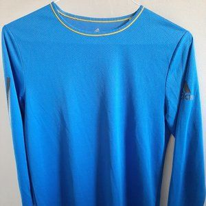 Adidas Climacool Long Sleeve Blue Large Top Men's